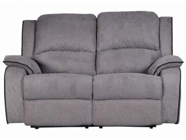 Canapé 2 places relax en microfibre HERNANI - Gris