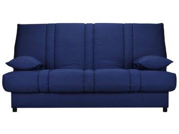Canapé clic clac en tissu FARWEST avec coffre de rangement - Bleu nuit