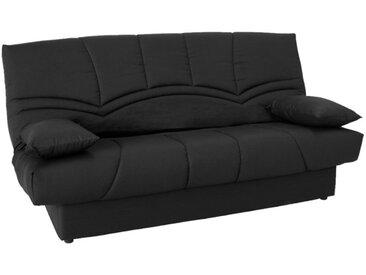 Canapé clic-clac 100% coton avec coffre de rangement SALOON II - Noir