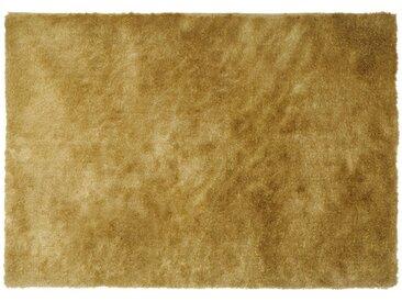 Tapis shaggy GLITTER -160 x 230 cm -  Doré