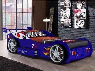 Lit voiture RUNNER avec tiroir - 90x200 cm - Bleu