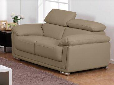 Canapé 2 places en cuir MISHKA - Beige