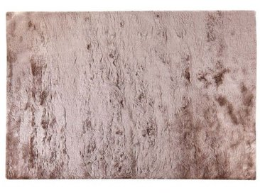 Tapis shaggy DOLCE taupe reflet beige - polyester - 200*290cm