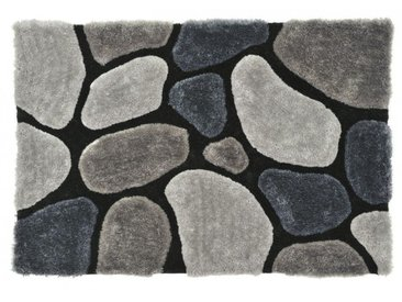 Tapis shaggy PIETRA gris - polyester - 140*200cm