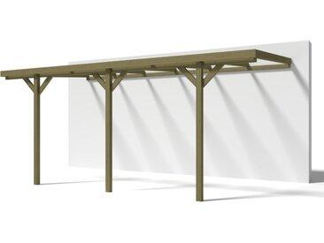 Carport adossé LEXIS en bois autoclavé traité classe III - surface 15,72m²