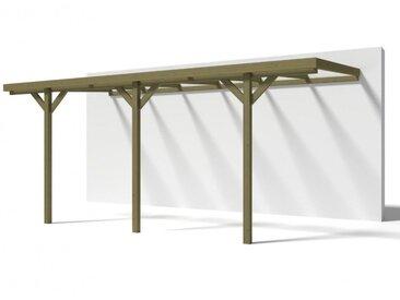 Carport adossé LEXIS en bois traité classe III - surface 15,72m²