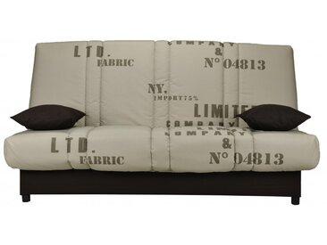 Canapé clic clac en tissu FARWEST avec coffre de rangement - Imprimé VINTAGE