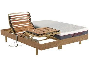 Lit électrique relaxation matelas mémoire de forme TANTALE de DREAMEA - moteurs OKIN - 2 x 80 x 200 cm