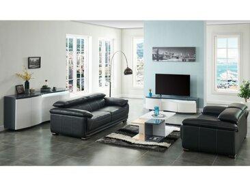 Canapé 2 places en cuir MACELO - Noir