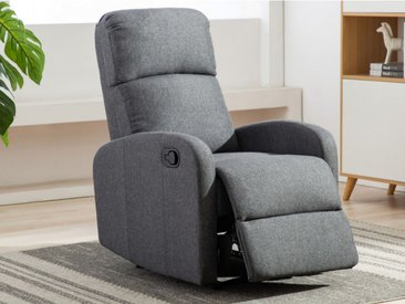 Fauteuil relax en tissu ISAO - Anthracite