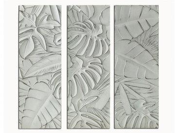 Tableau triptyque en bois APIO - 39x90x4 cm - blanc