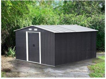 Abri de jardin en acier galvanisé gris MANSO - 12,5 m²