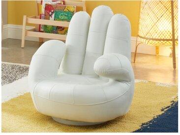 Fauteuil main enfant pivotant en simili CATCHY - Blanc