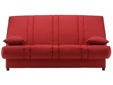 Canapé clic clac 100% coton FARWEST avec coffre de rangement - Rouge II