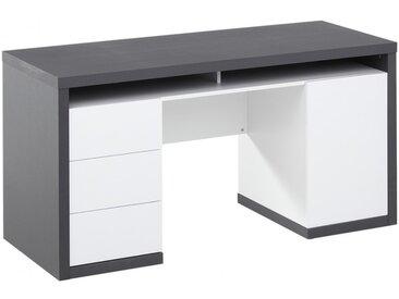 Bureau avec rangements IGOR III - Blanc et gris