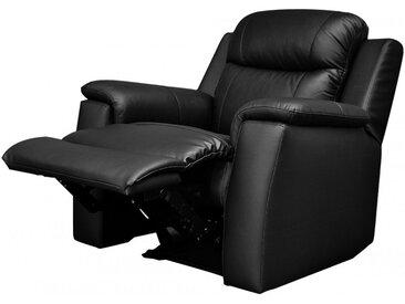 Fauteuil relax EVASION en cuir - Noir