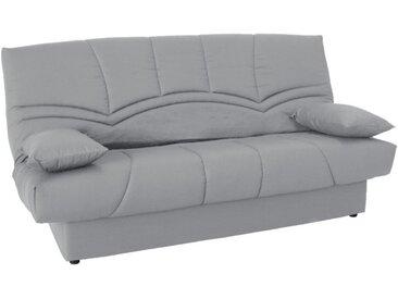 Canapé clic-clac 100% coton avec coffre de rangement SALOON II - Gris clair