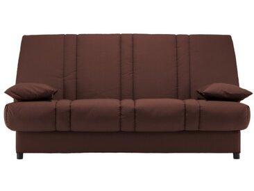 Canapé clic clac 100% coton FARWEST avec coffre de rangement - Marron