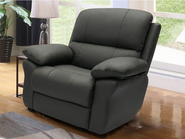 Fauteuil relax en cuir MILAGRO - Anthracite