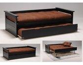 Lit gigogne banquette ALFONSO - 90x190cm - MDF et Sapin - Noir