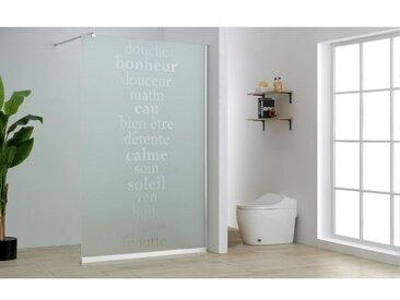 Paroi de douche à l'italienne EOLIWA sérigraphiée - 140x200cm