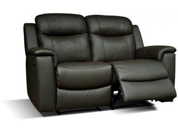 Canapé 2 places relax EVASION en cuir - Noir