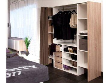 Ensemble dressing + meuble de rangement EMERIC - Chêne & Taupe