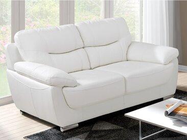 Canapé 2 places en simili RENAUD - Blanc