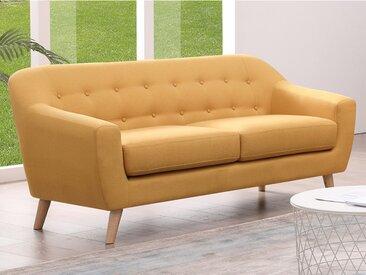 Canapé 3 places en tissu JOBY - Jaune