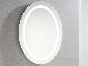Miroir de salle de bain lumineux ovale à leds SUMATRA -  L60 xP3.5 xH80