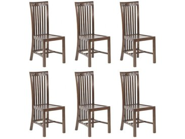 Lot de 6 chaises JAKARTA II - Teck massif