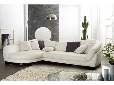 Canapé d'angle cuir de buffle 5 places CAPRI II - Ivoire - Angle gauche