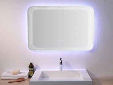 Miroir de salle de bain lumineux rectangle AGLAE - L90 x H60 cm