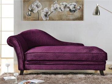 Méridienne droite velours BOUDOIR - Violet