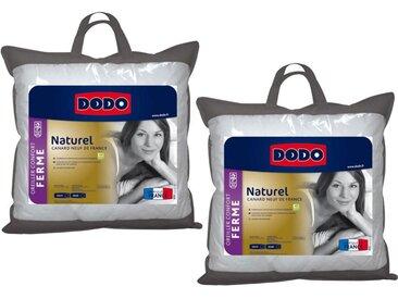 Lot de 2 oreillers DODO 50% duvet naturel NATUR -  65 x 65 cm