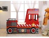 Lit pompier gigogne SAPEUR 2x90x190cm - MDF rouge