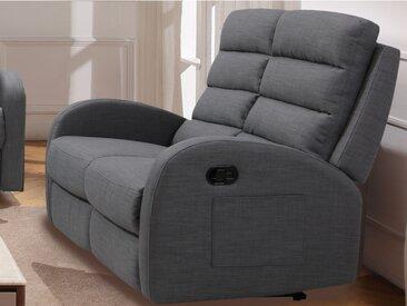 Canapé 2 places relax en tissu GIORGIA- Gris