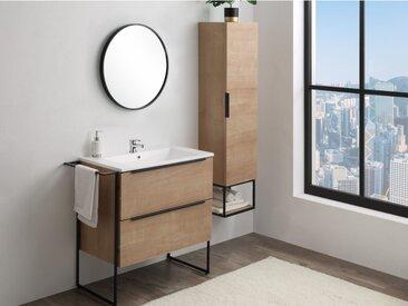 Ensemble ELISA - meubles de salle de bain - effet bois