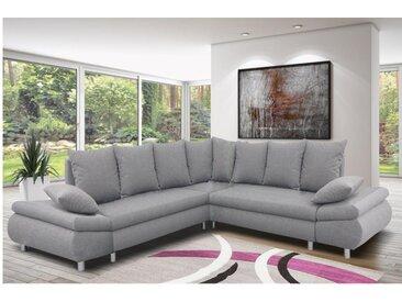 Canapé d'angle XL convertible FELTON - Gris clair