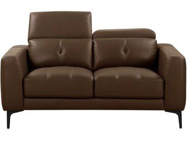 Canapé 2 places en cuir JASPER - Marron