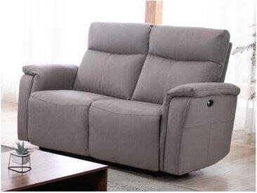 Canapé 2 places relax électrique HENEL en tissu  - Beige