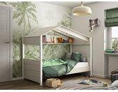 Lit cabane ROBINSON - 90 x 200 cm - Coloris chêne
