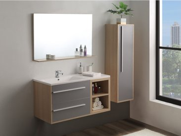 Ensemble JASMINE - meubles de salle de bain - Bois et gris