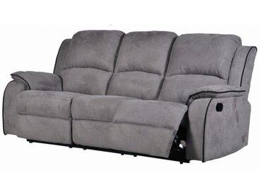 Canapé 3 places relax en microfibre HERNANI - Gris