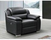 Fauteuil relax électrique en cuir ARENA III - Noir