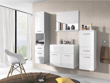 Ensemble CLAUDIA - meubles de salle de bain - laqué blanc