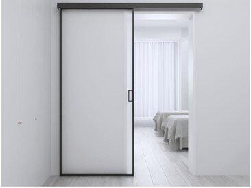 Porte coulissante en applique LINCI - H205cm x L83cm - Verre trempé