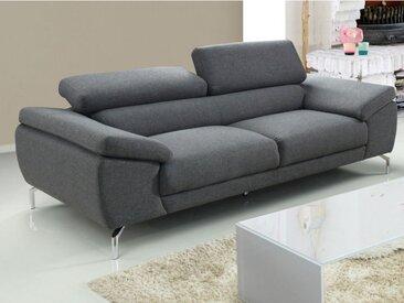 Canapé 3 places en tissu GRETEL - Gris