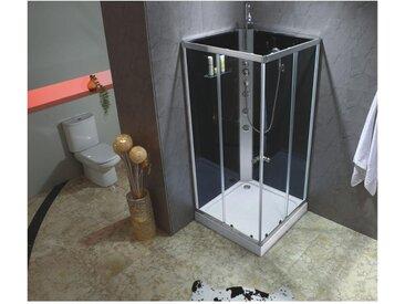 Cabine de douche hydromassante CASSIA  - 3 jets de massage - pluie tropicale et douchette