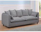Canapé 3 places en tissu RAMSES - Gris
